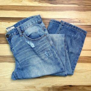 Free People Medium Wash Distressed Jeans